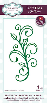 Festive Collection Holly Swirl Die - CED3106