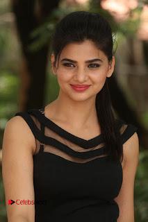 Actress Kamna Ranwat  Pictures in Black Short Dress at Selfie Raja Interview  0145