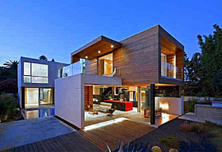 picture of a 2-storey modern minimalist house - a floating interior house