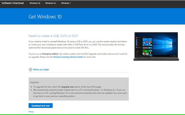 Upgrade To Windows 10 From windows 7 or Windows 8 using Media