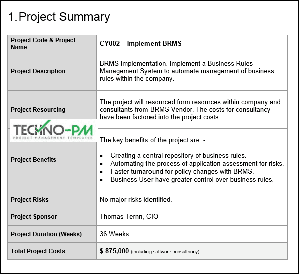 Project Proposal Template Word Template
