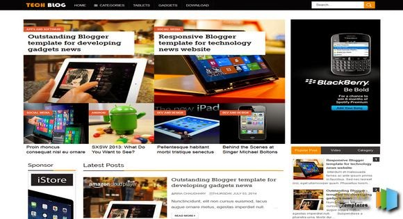 tech blog blogger template