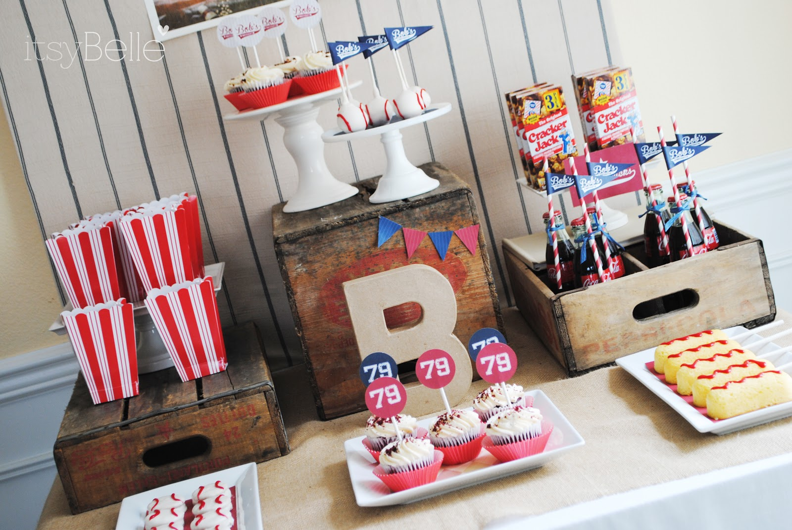 Real Parties Vintage Baseball Birthday Itsy Belle