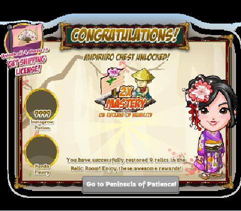 FarmVille Story of Sakura Farm Sakura's Relic Room Preview