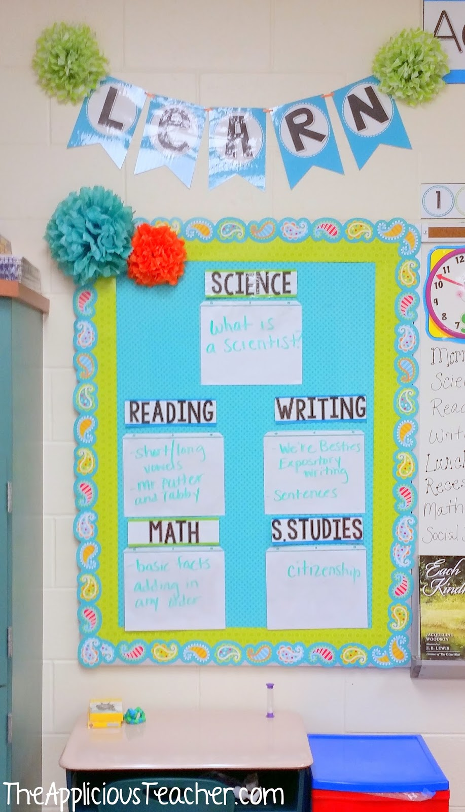 Classroom Ideas Second Grade ~ Nd grade classroom tour the applicious teacher