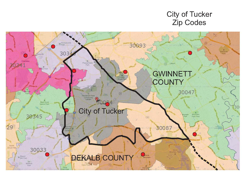 The City of Tucker Initiative: Zip Codes in the City of Tucker