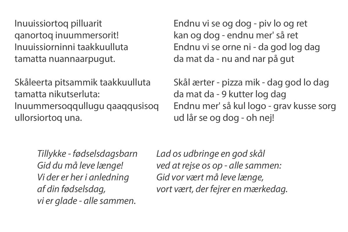 grønlandsk fødselsdagssang