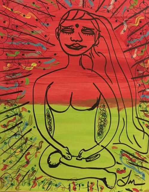"""Stillness"" by Justin Lacche, 2016: 16"" x 20"" mixed media"
