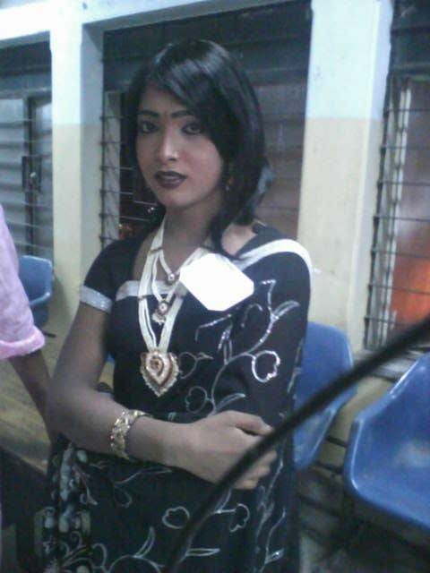 Indian Crossdresser in Saree