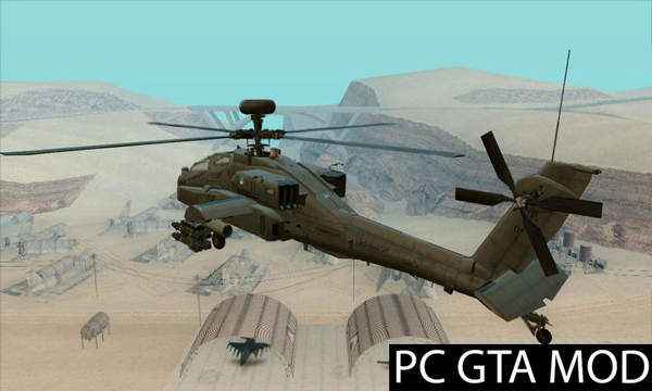 Free Download AH-64D Longbow Apache Netherlands  Mod for GTA San Andreas.