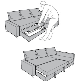 cara menarik sofa bed