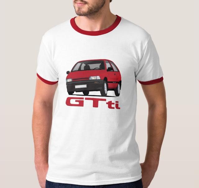 80's Daihatsu Charade GTti t-shirt cornering