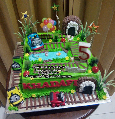 Kue Tart Lucu Kereta Thomas and Friends