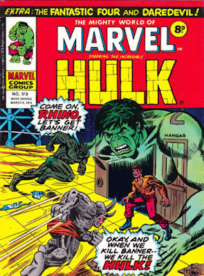 Mighty World of marvel #179, Hulk, Rhino, Abomination