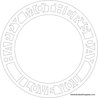 Happy Mother's Day blank frame in JPG and transparent PNG versions