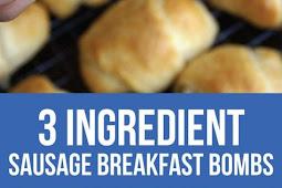 3 Ingredient Sausage Breakfast Bombs