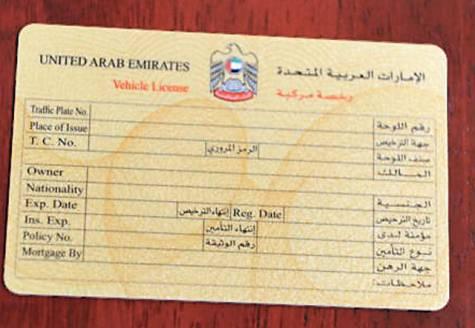 uae driving license