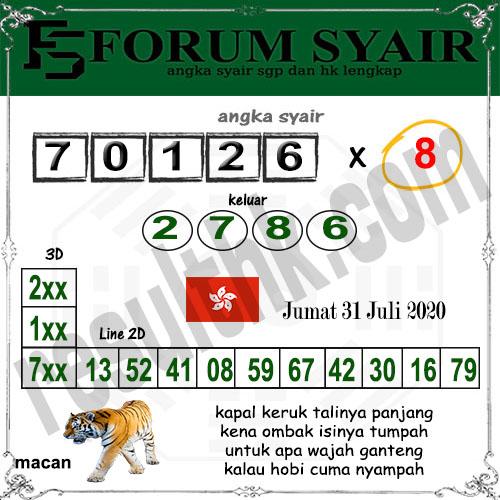 Forum syair hk Jumat 31 juli 2020