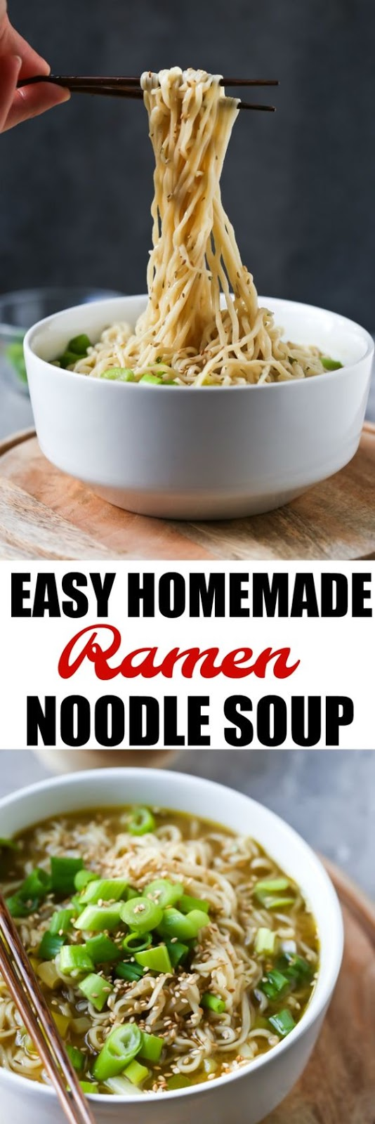 Easy Homemade Ramen Noodle Soup