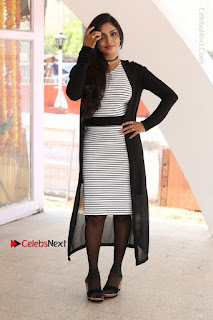 Telugu Actress Karunya Chowdary Stills in Black Dress at Soda Goli Soda Movie Opening  0018.JPG