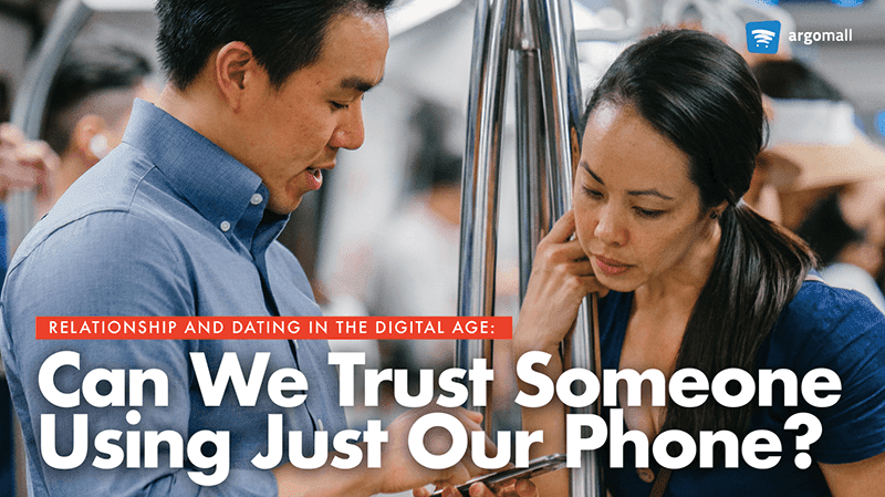 Can we trust someone using just our phones?