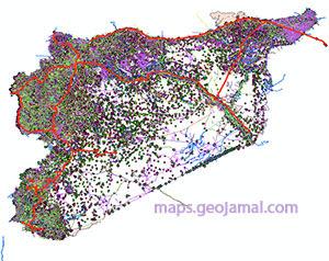 تحميل الخرائط الرقمية لسوريا Shapefiles Of Syria جمال شعوان