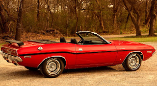 1970 Dodge Challenger RT Convertible Rear Side