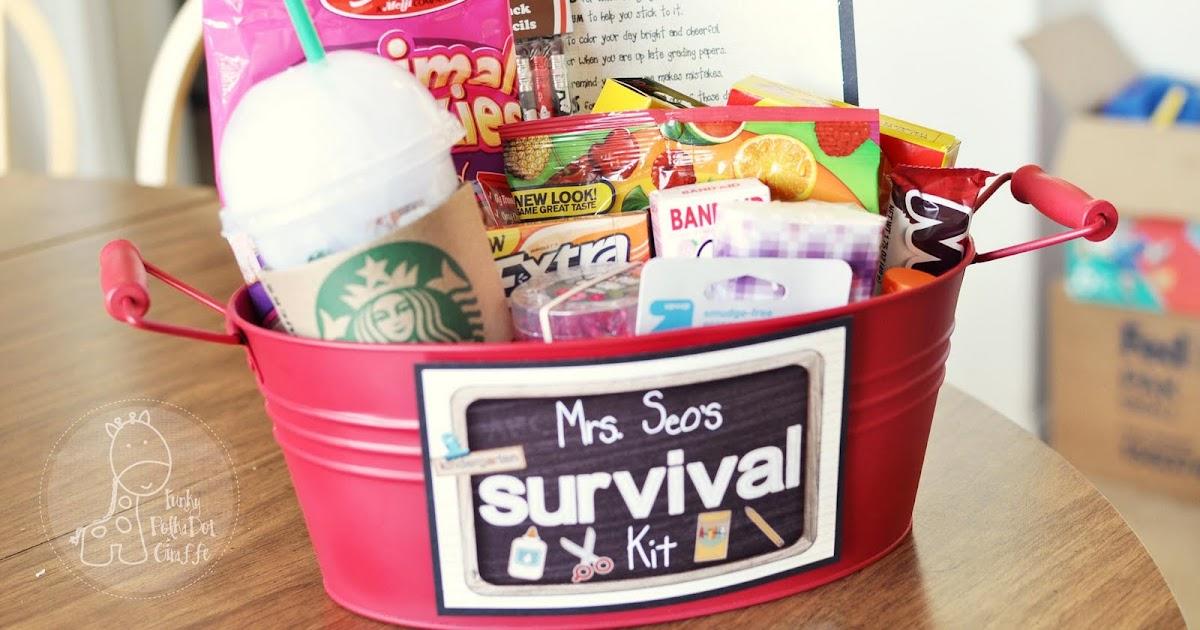 Gift Packaging Ideas Back To School Teacher Survival Kit