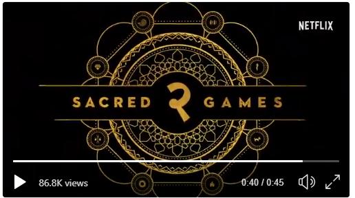 क्या आप जानते है नेटफ्लिक्स के शो सेक्रेड गेम्स २ के रिलीज़ होने का सही कारण?जान कर हंस पड़ोगे !
