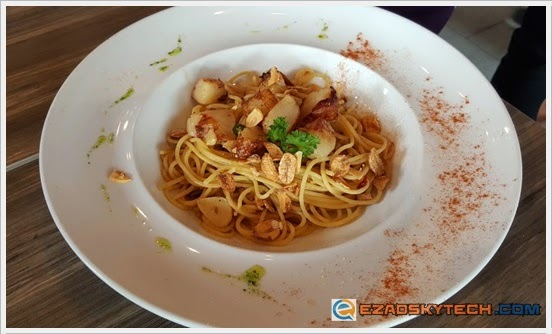 Spaghetti Aglio-Olio With Sea Scallop U-Cafe Wangsa Walk