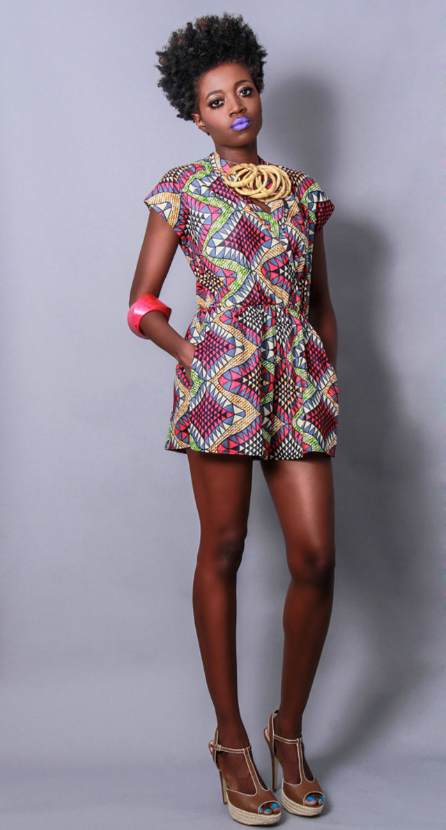 Demesticks  NY African print  style Romperciaafrique ,african print dresses ,african fashion, african dress styles,kitenge designs , african styles, african style dresses , african style, african dresses See more on ciaafrique.com