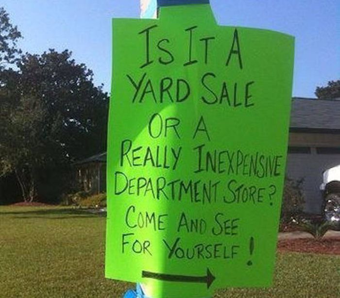Funny Backyard Signs :  try not to pay attention to them, these signs refuse to be ignored