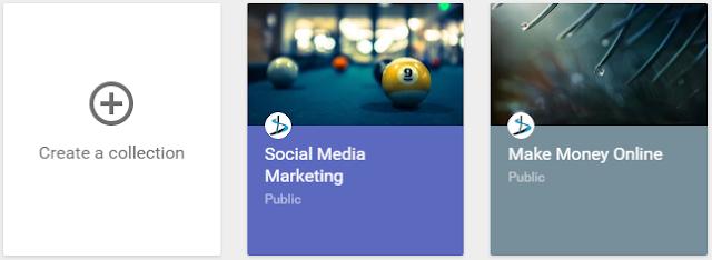 create Google Plus collection