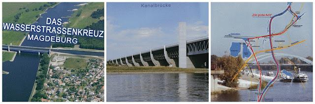 Alemanha: as pontes mais fantásticas! Wasserstraßenkreuz ou Kanalbrücke, Magdeburg