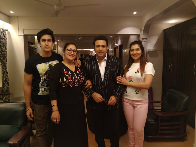 Latest family photo of Govinda