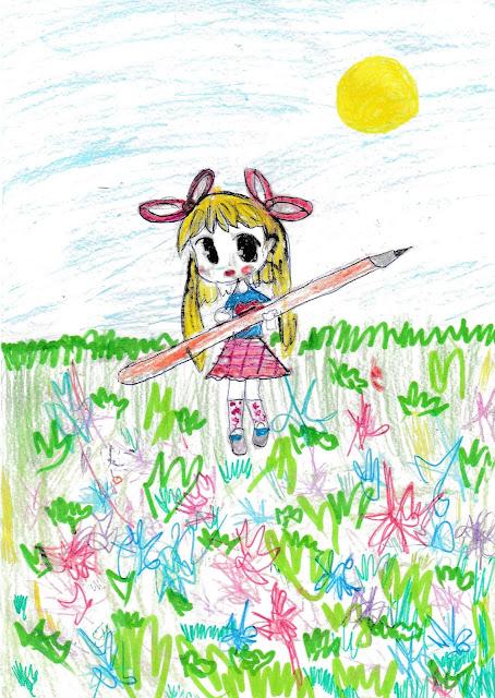 девочка - феечка, которая очень любит рисовать
