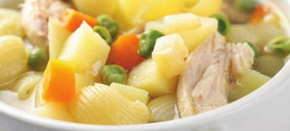 Chicken, Vegetables & Pasta Soup