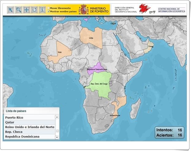 """""""Puzzle de países del mundo"""" (Juego de localización geográfica)"""
