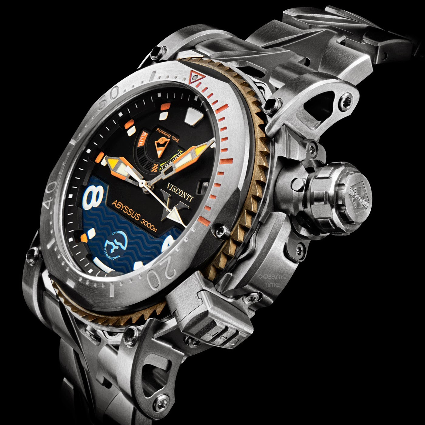 Oceanictime visconti scuba abyssus 3000m continuation of a florentine dive watch legacy for Dive watch