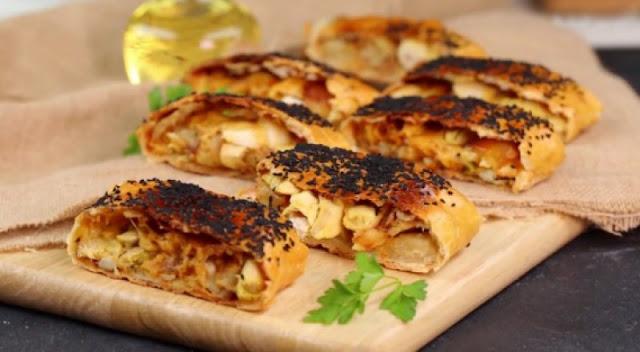 لفائف الخبز بالدجاج