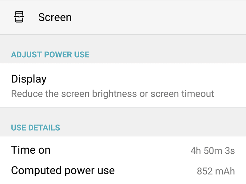 Decent screen on time result on heavy usage