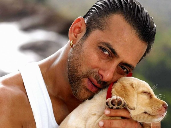 Salman Khan with Dog Wallpapers