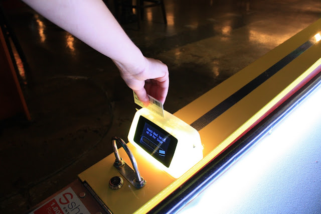 Swipe system for gaming at Punch Bowl Social