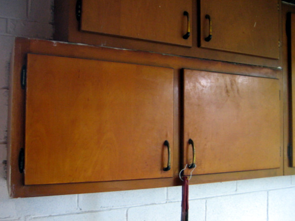 Painting old cabinets