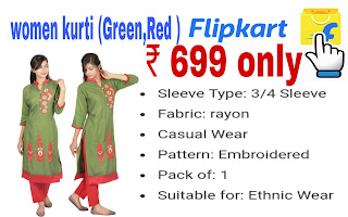 Women kurti (Green,Red) ₹ 699 only