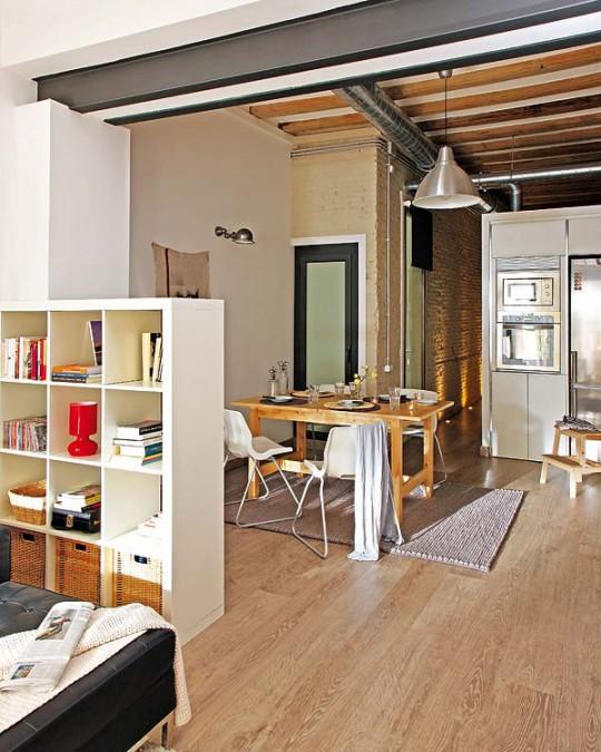un apartamento en clave industrial decoraci n. Black Bedroom Furniture Sets. Home Design Ideas