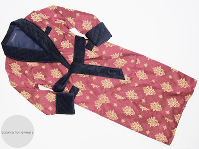 mens quilted dressing gown paisley silk velvet extra long warm lined robe victorian english smoking jacket