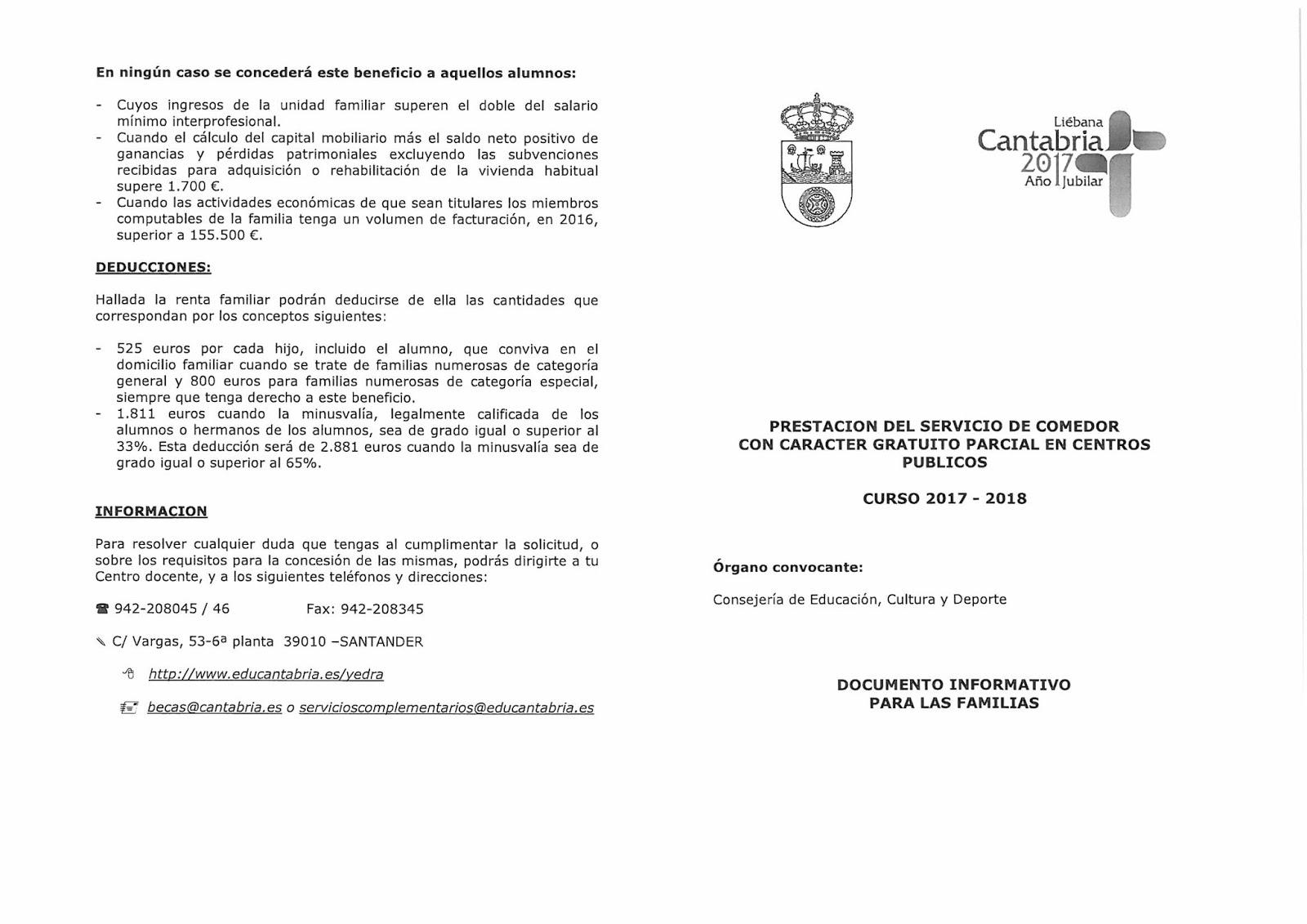 AMPA Flavio San Román : Becas de comedor curso 2017/18