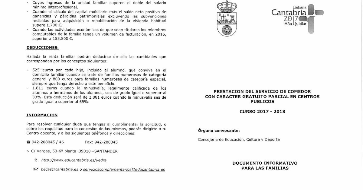 Ampa flavio san rom n becas de comedor curso 2017 18 for Becas comedor 2017 madrid