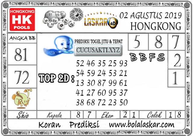 Prediksi Togel HONGKONG LASKAR4D 02 AGUSTUS 2019